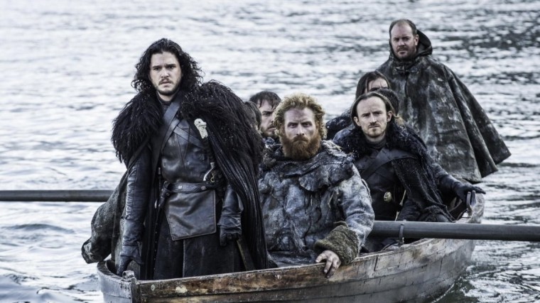 Jon Snow (Kit Harington) and co arriving at Hardhome (Game Of Thrones, HBO)