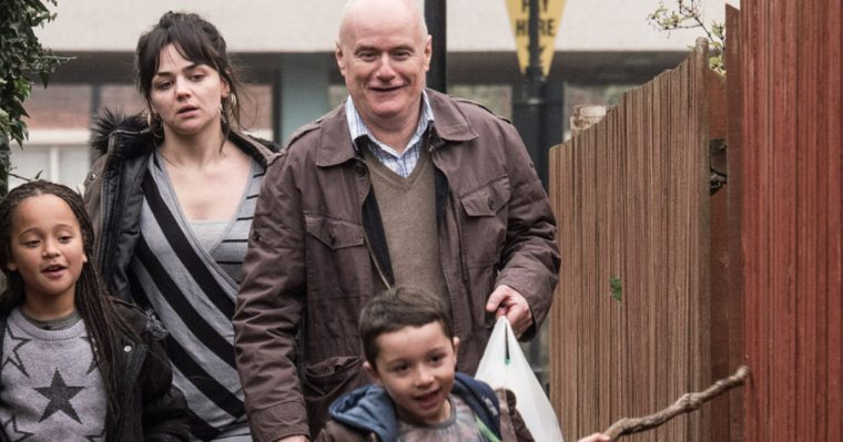 Daniel Blake (Dave Johns), Katie (Hayley ) and her kids in I, Daniel Blake (I, Daniel Blake, British Film Institute)
