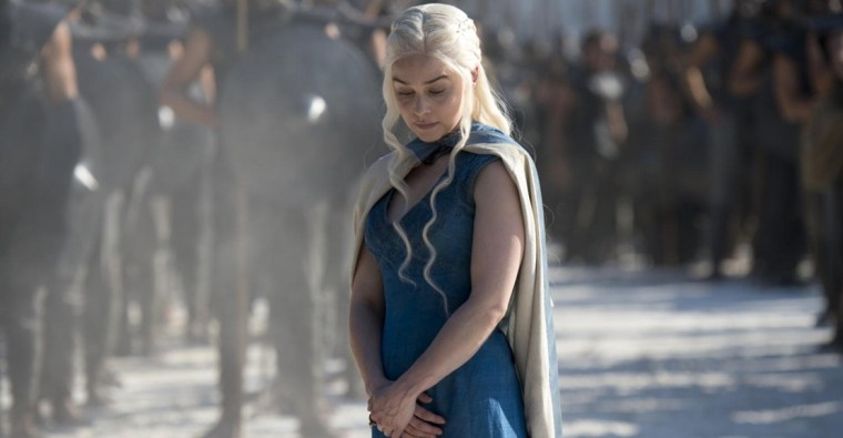 Daenerys Targaryen (Emilia Clarke) outside Meereen (Game Of Thrones, HBO)
