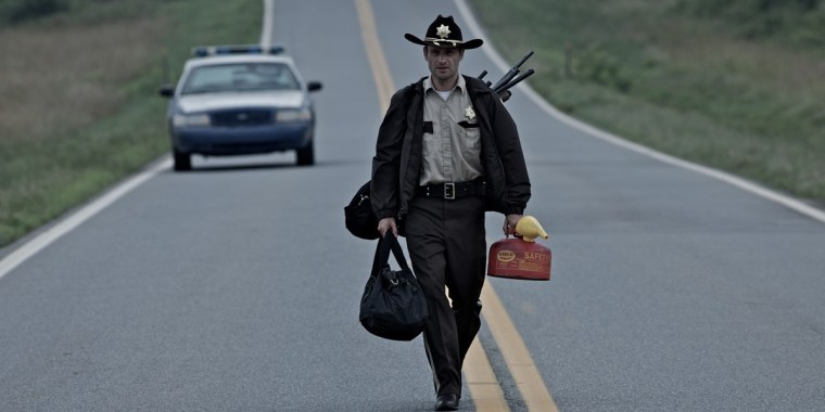 Andrew Lincoln plays Deputy Sheriff Rick Grimes in The Walking Dead (The Walking Dead, AMC)