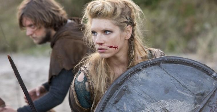 Shieldmaiden Lagertha (Katheryn Winnick) in Vikings (Vikings, History Channel)