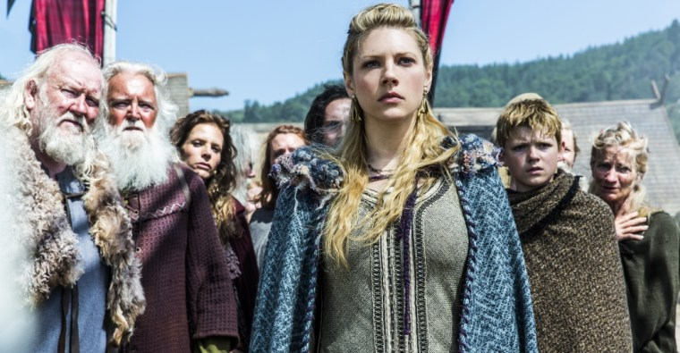 The badass shieldmaiden Lagertha in History's Vikings (Vikings, History Channel)
