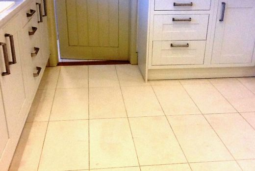 Dirty Grout in Titchmarsh Kitchen After Cleaning