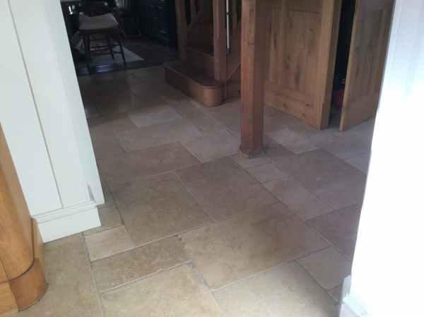 Limestone Kitchen Floor After Renovation Yelvertoft