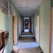 Northampton State Hospital North Attendant's building interior, hallway, second floor