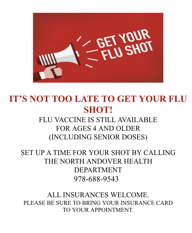 It's not too late to get your flu shot! - North Andover News