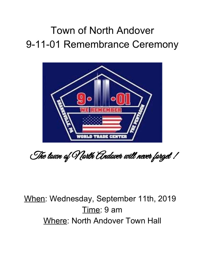 Town of North Andover 9-11-01 Remembrance .jpg