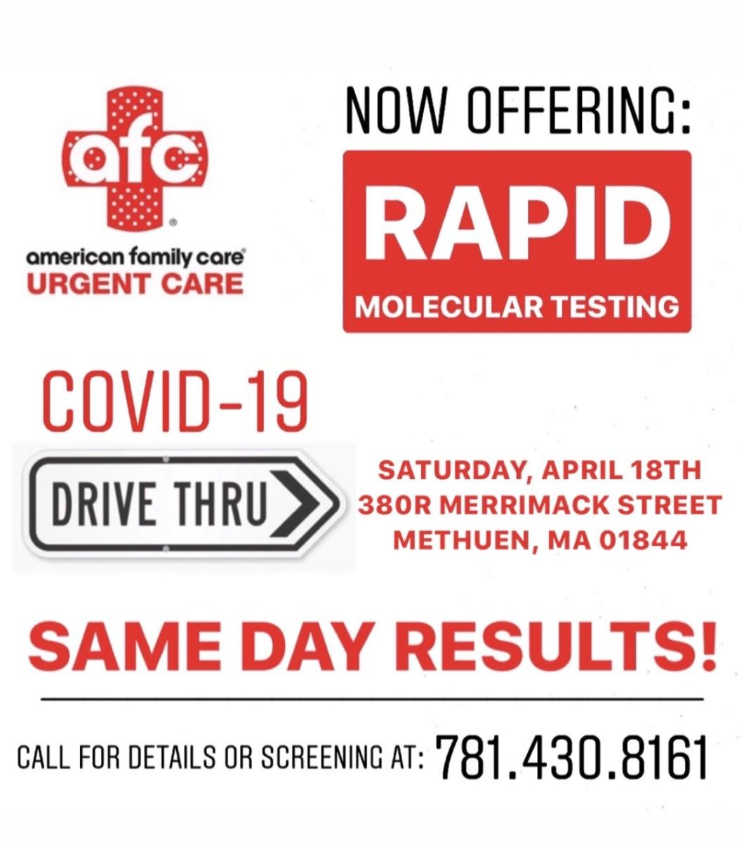 Rapid Molecular COVID-19 testing - same day results ...
