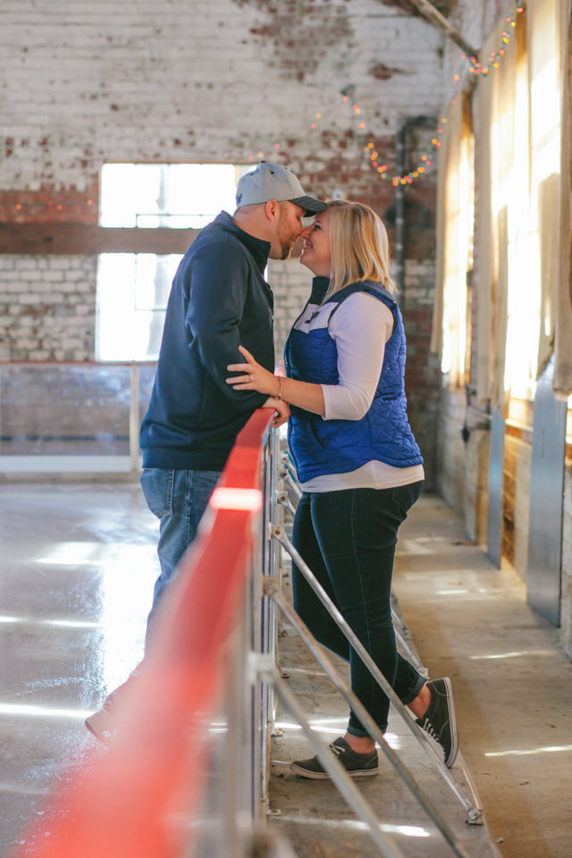 Kelsey and Derek Engagement Session in Forest Park and The Loading Dock in Grafton, IL by Engagement Photographers North Arrow Creative