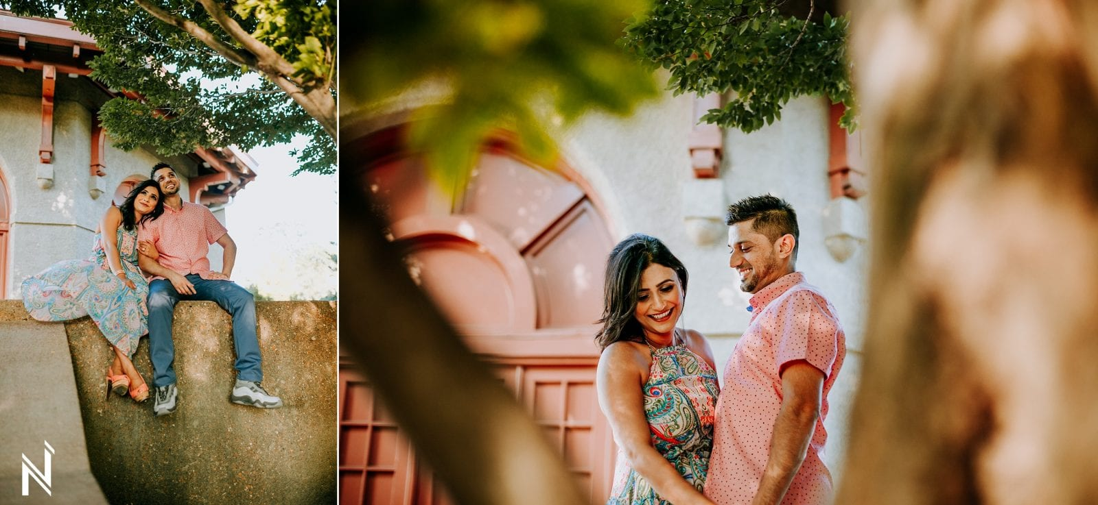 Indian engagement photography at Worlds Fair Pavillon in Forest Park