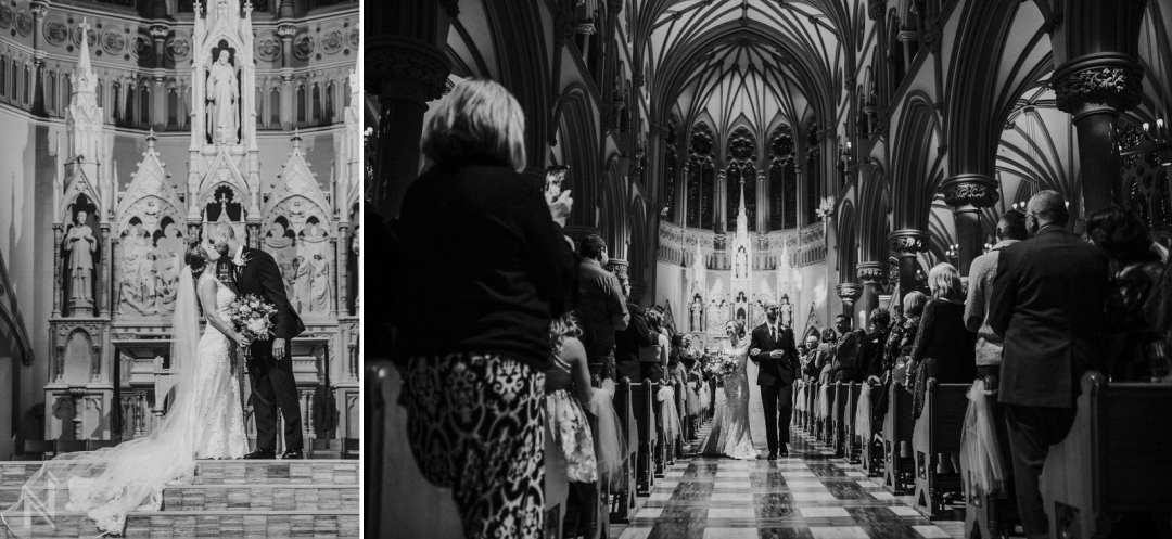 Wedding at St. Francis Xavier Church in St. Louis, MO
