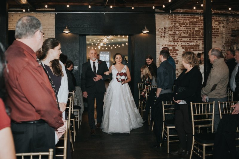 Jenny and Justin Wedding at WOW Furnishings and Events Center in Alton, IL by Wedding Photographers North Arrow Creative