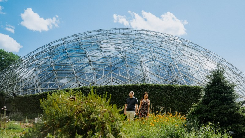 St. Louis Engagement Photography Session at Missouri Botanical Gardens