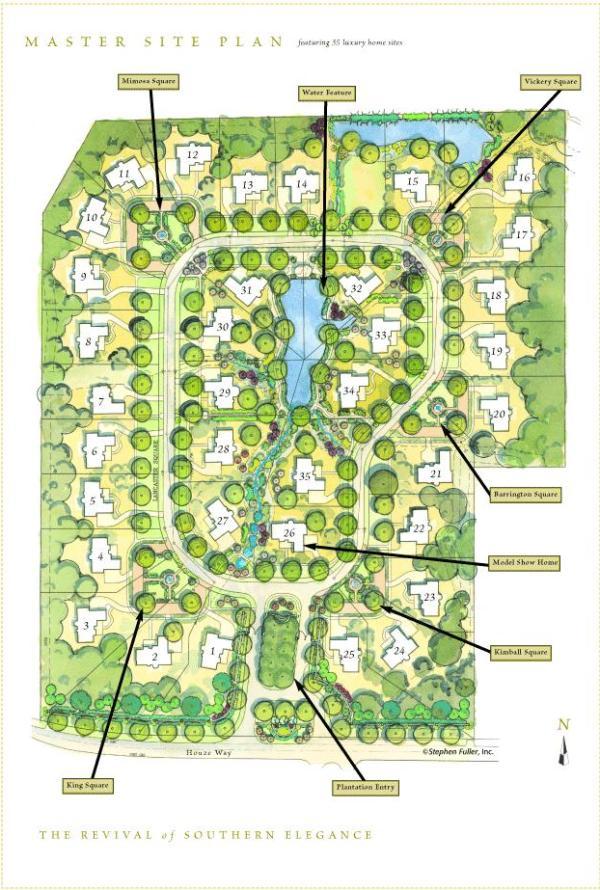 Roswell GA Estate Community Chatham Park Stephen Fuller Designed