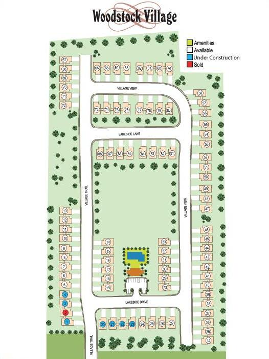 Woodstock Georgia Attached Homes Site Plan