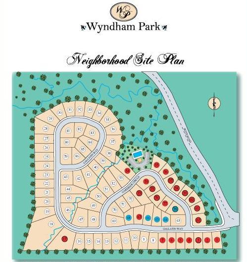 Wyndham Park Suwanee Georgia Site Plan