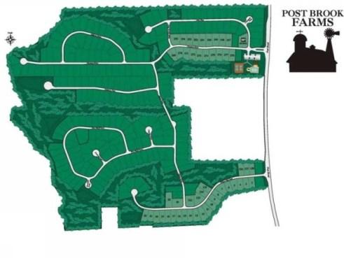 DR Horton Post Brook Farms Site Plan