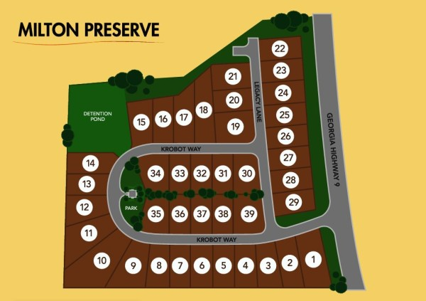Milton Georgia Milton Preserve Community