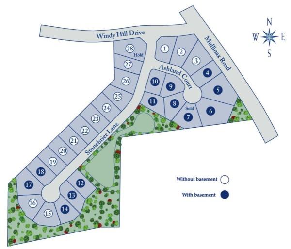 Alpharetta GA Subdivision Briarcrest Site Map