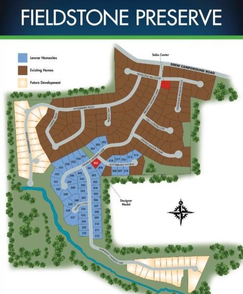 Lennar Builder Site Plan Fieldstone Preserve