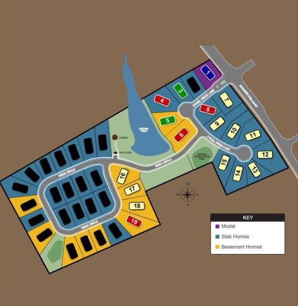 Suwanee GA Lake Forest Estates Site Plan