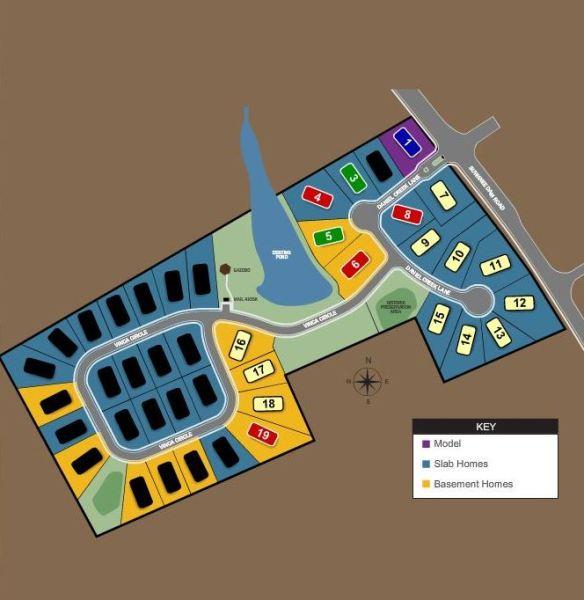 Suwanee GA Lake Forest Estates Site Plan