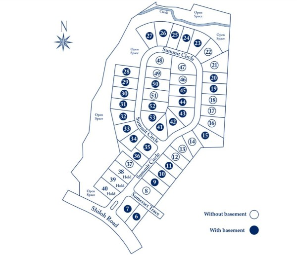 Alpharetta Homes In Summit At Shiloh Site Plan