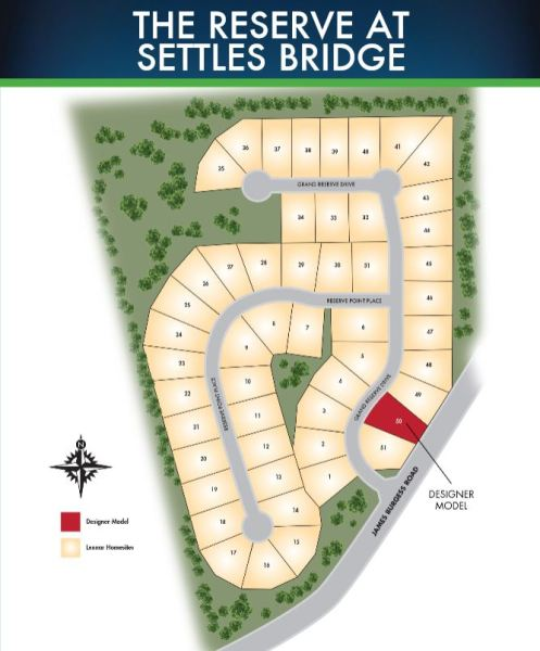 Lennar Built Homes In The Reserve At Settle Bridge