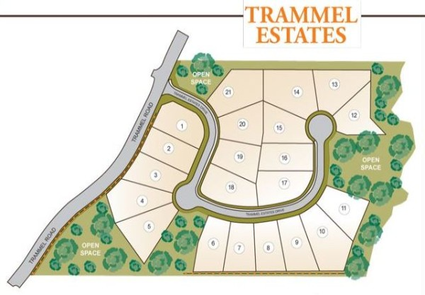Cumming GA Trammell Estates Site Map