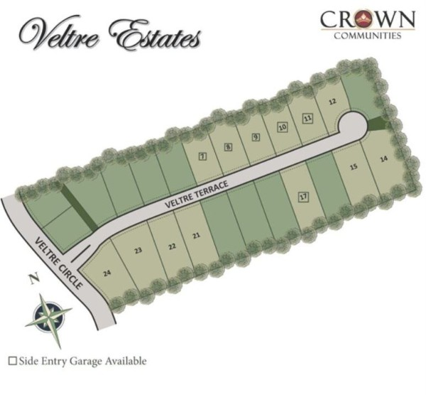 Atlanta GA Community Site Plan Veltre Estates