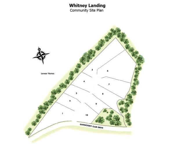 Dunwoody Whitney Landing Site Plan GA