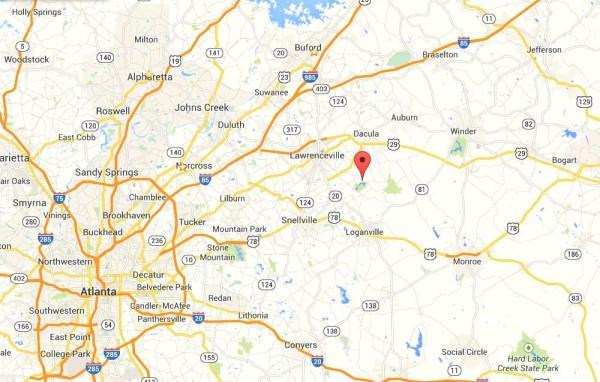 Highland Manor Map Location Gwinnett County GA