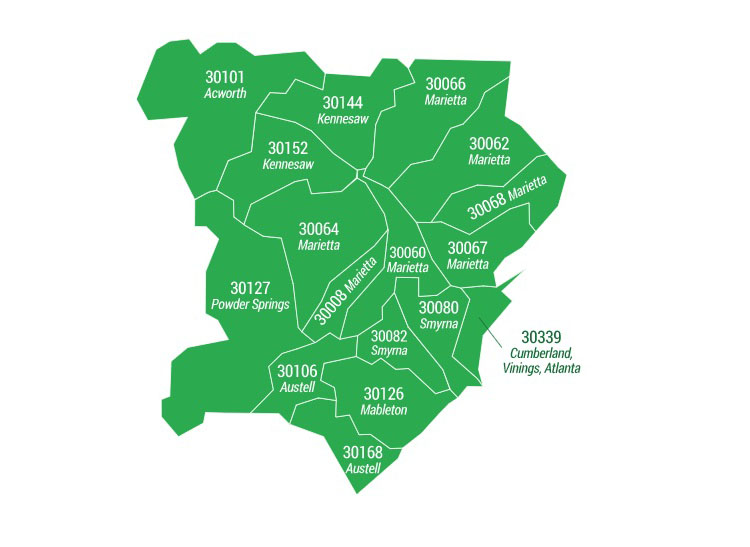 Cobb County ZIP Code Areas