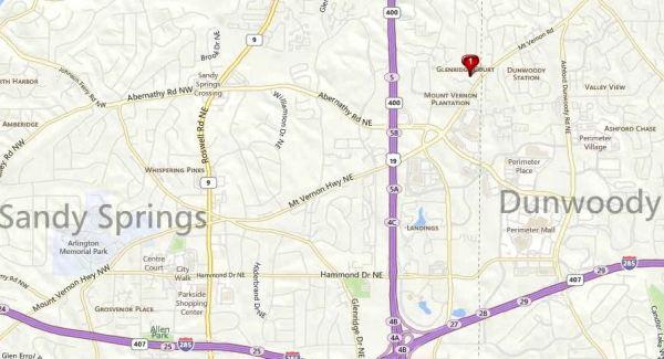 Sandy Springs Map Glenridge Ct. Community