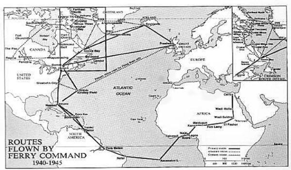 Ferry Command Routes