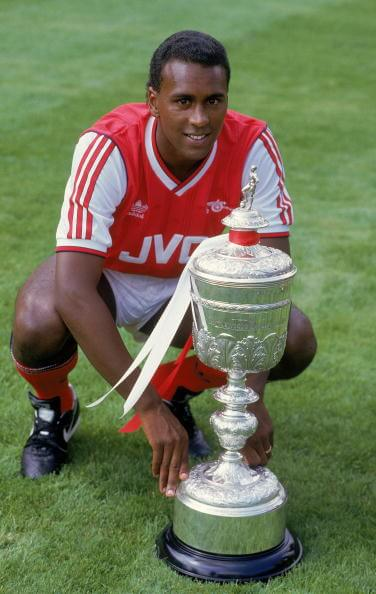 David Rocastle with the Division One trophy
