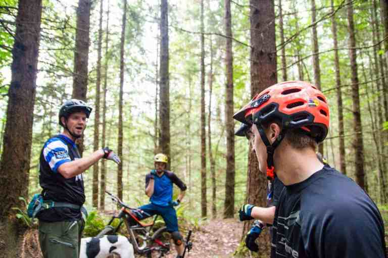 Instructions Being Given Out for Private Mountain Bike Tour