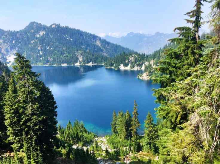 One of Best Lakes near North Bend. Snow Lake at Snoqualmie Pass