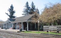 North Bend Train Depot in William Henry Family Park