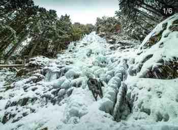 Frozen Teneriffe Falls