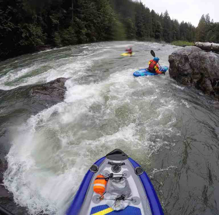 Inflatable Kayaking Run on Middle Fork Snoqualmie