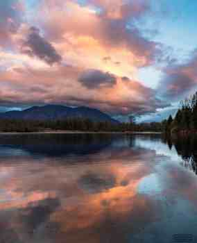 Mount Si Reflecting at Sunset