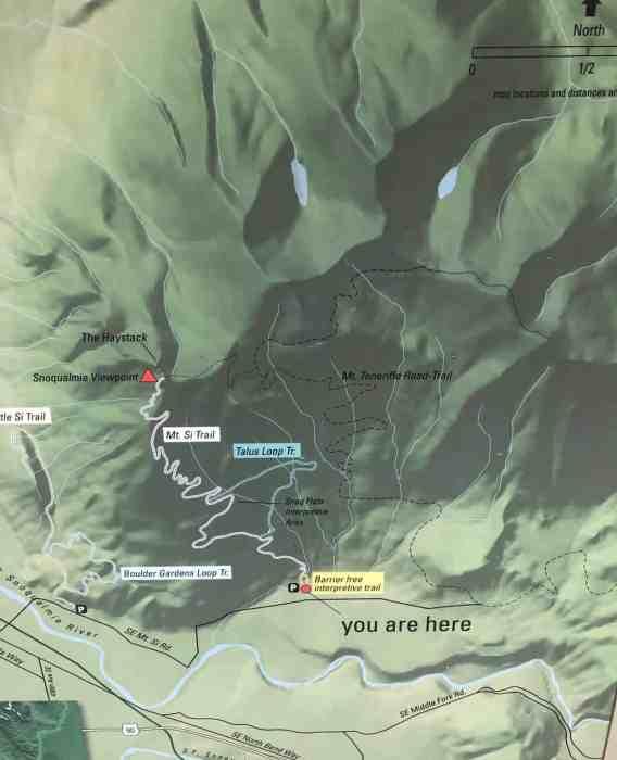 Mt Si trail map