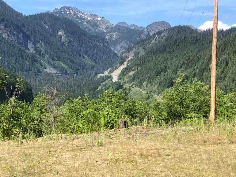 Snoqualmie Pass View Near Tunnel Entrance - 14.5 Miles East of Homestead Trailhead Jct