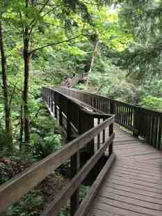 Twin Falls Washington Trail bridge over S Fork Snoqualmie River