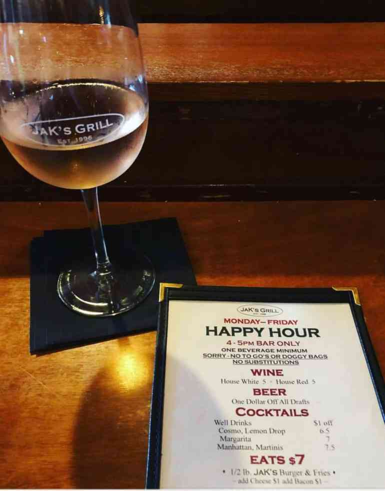 Jak's Grill Happy Hour
