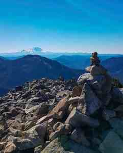 Mt Rainier from Kaleetan Peak Summit