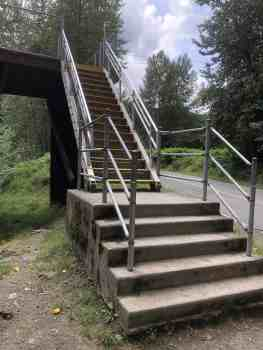 Stairs to Ronette's Bridge from Reinig Road