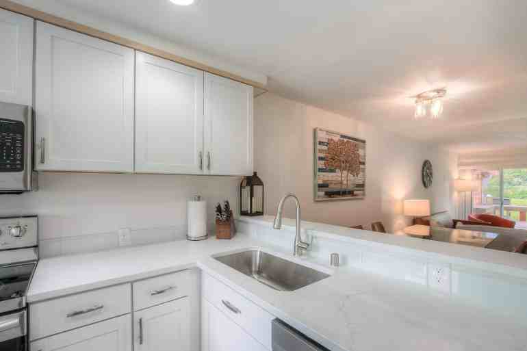 Kitchen Looking to Living Room and out back Moon River 3
