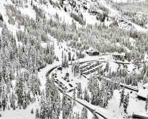 Alpental Parking Lots and Entry Bridge